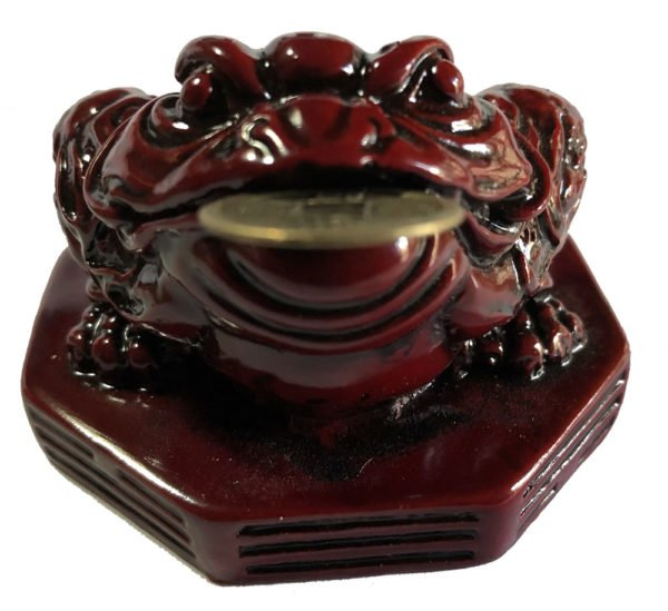 Red Feng Shui wealth toad front