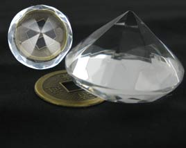 8 facets Crystal Diamond Zuan Shi Cheng Ji (Three Sizes Available)