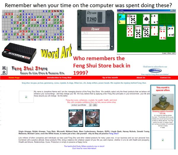 Remember when your time on the computer was spent doing these