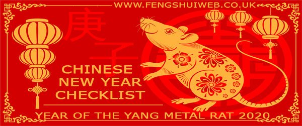 Feng shui Chinese New Year checklist for 2020
